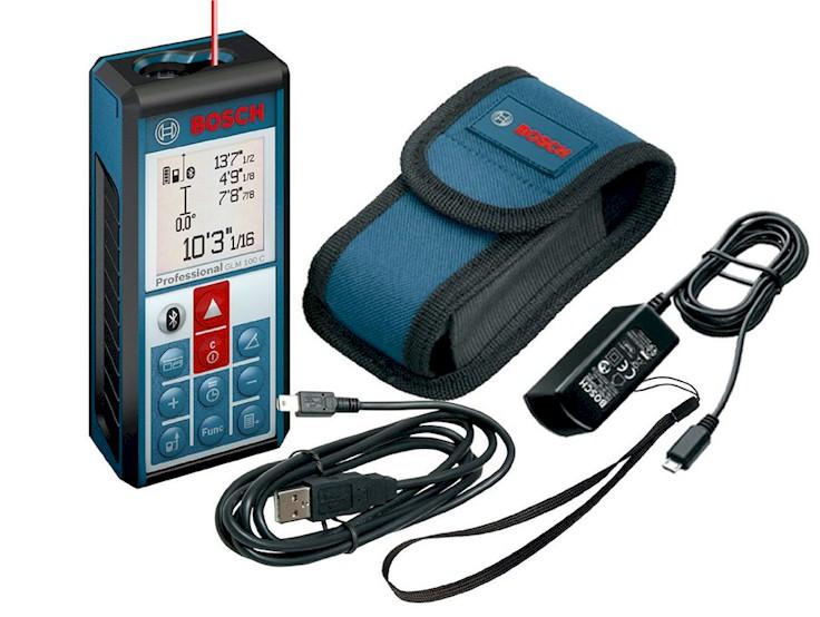 Medidor laser bosch glm 100c bluetooth blauden electronics - Medidor laser bosch ...