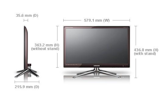 Samsung syncmaster fx2490hd tv monitor led 24 full hd pip - Medidas de monitores para pc ...