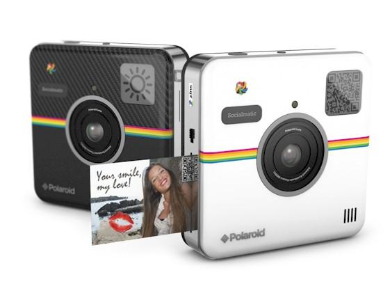 Polaroid SocialMatic blanca, cámara digital instantánea conectada