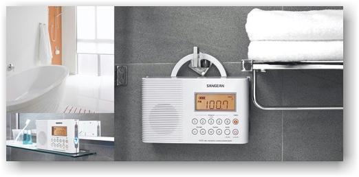 radio de ba o ducha sangean h201 blauden electronics