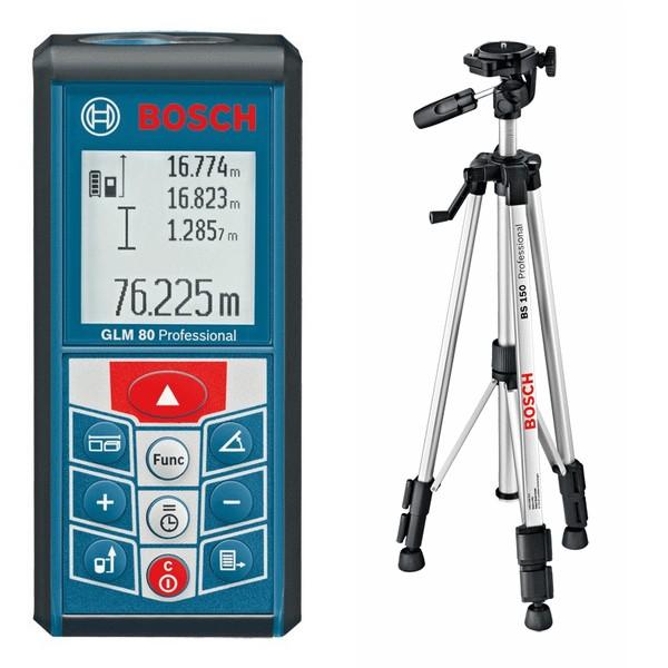 Medidor l ser bosch glm 80 profesional con tripode bs150 - Medidor laser bosch ...