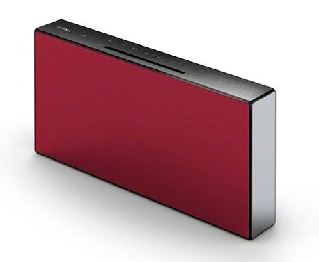 microcadena hifi sony cmt x3cd roja con bluetooth blauden electronics. Black Bedroom Furniture Sets. Home Design Ideas