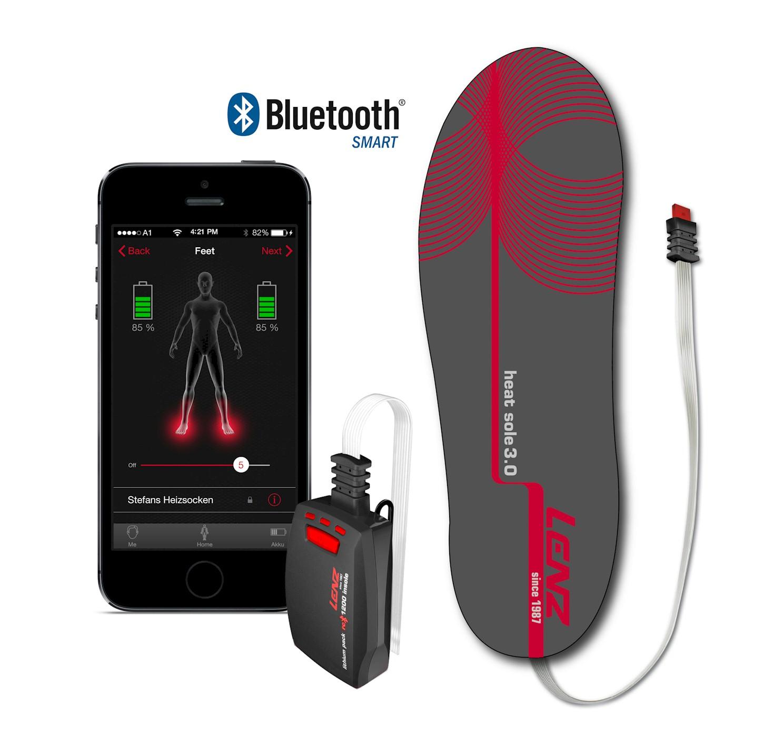 Plantillas calefactadas Lenz Heat Sole 1.0 + Baterías RCB1200 Bluetooth